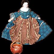 Fabulous Minature Woven Basket for Antique Doll House Dolls