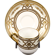 6 Minton Gold Encrusted Demitasse for Tiffany