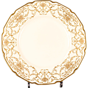 12 Antique Royal Doulton Gold Encrusted Dinner or Service Plates