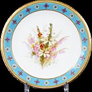 Royal Worcester Hand-Painted Botanical Dessert Set
