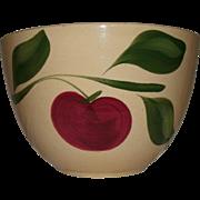 "REDUCED Vintage 8 3/4"" Watt Pottery (Watt ware) Yellow Ware ""APPLE"" Mixing Bowl"