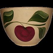 "REDUCED Vintage 9"" Watt Pottery (Watt ware) Yellow Ware ""APPLE"" Mixing Bowl - #"