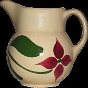 "REDUCED Vintage 5 1/2"" Watt Pottery (Watt ware) Yellow Ware ""Starflower"" Pitche"