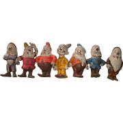 REDUCED Rare Complete Set of Disney's Seven Dwarfs - Made in 1938 by Seiberling Latex ...