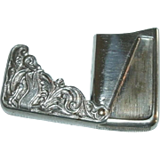 REDUCED Ornate Victorian / Art Nouveau Repousse Silverplate Match Safe / Match Case with Hinge