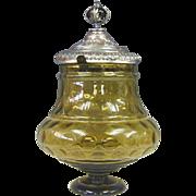 Unique Bohemian Crystal Punch Bowl & Ladle, Germany, Ca 1880.