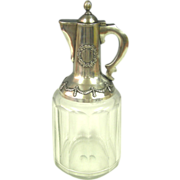 Russian Silver Mounted Glass Claret Jug Wine Decanter Bolin Circa 1910