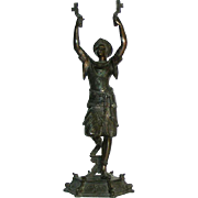 French Bronze Patinated Spelter Figure, Ca 1880