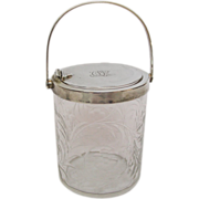 Tiffany & Co Sterling Silver Mounted Glass Preserve Pot / Jelly Jar New-York Circa 1920