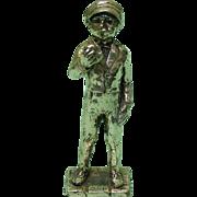 Vintage Silver Plated Boy Miniature Figurine.