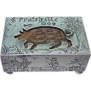 Novelty Victorian Sterling Silver Matchbox Cover By Andrew Barrett & Sons, London, England, ..