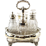 Sterling Silver Cruet Set By Joseph & John Angell, London, England, 1834