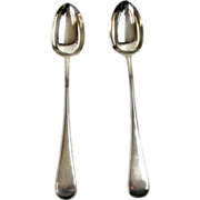 Pair of Sterling Silver Serving Spoons by James Dixon & Sons Sheffield England 1913