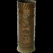 Extremely Rare Shell Case Vase, Eretz Israel, Palestine, Tel-aviv, 1938