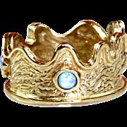 14 Karat Yellow Gold & Opal Ring
