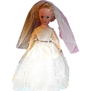 "REDUCED Beautiful 1950's 20"" Vinyl Bride Doll"