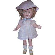 """REDUCED Cute 13"""" Shirley Temple Doll With Rare 1934 Now And Forever Dress **FREE SHIPPING"""