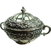 SALE 900 Silver Mexican Early 1900's Sugar Bowl