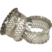 SALE Sheffield 1900 Rope and Knot Atkin Bros. Sterling Napkin Rings