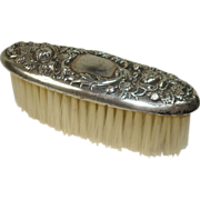 Rose and Leaf Sterling Clothes Brush