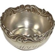 SALE Redlich Sterling Repousse Open Salt