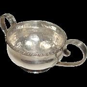 SALE Sterling Sanborns Hammered Sugar Bowl