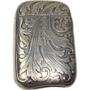 Gorgeous Sterling Acanthus Match Safe or Vesta