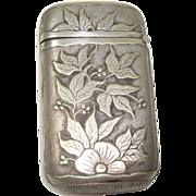 SALE Floral Leaf and Berry Match Safe or Vesta