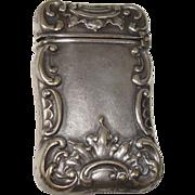 SALE German Silver Art Nouveau Match Safe or Vesta