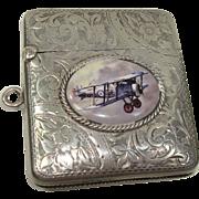 Henry Williamson Ltd 1908 Birmingham Bi-Plane Match Safe or Vesta