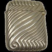SALE Excellent Nickel Plated Match Safe or Vesta