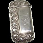 SALE Sterling Art Nouveau Match Safe or Vesta