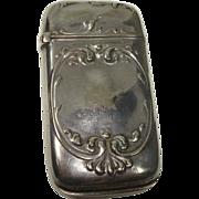 SALE Watrous c. 1900 Silver Plate Art Nouveau Match Safe or Vesta