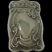 SALE German Silver Floral Art Nouveau Match Safe or Vesta