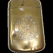 SALE Pabst Beer Milwaukee Match Safe or Vesta