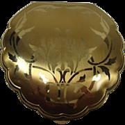 SALE Elgin American Art Nouveau Clamshell Floral Compact