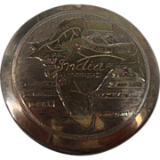 SALE Ruby Map of India Silver Compact