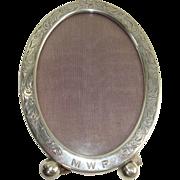 SALE Wm. B. Kerr & Co. Sterling Art Nouveau Oval Picture Frame