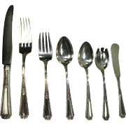 SALE Towle 1924 Louis XIV 6 Piece Place Setting for 12 Sterling Flatware Set + Serving ...