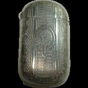 REDUCED Aluminum Order of the Garter Match Safe or Vesta