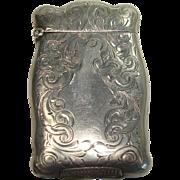 SALE c.1920 Rare Nussbaum & Hunold Acanthus Match Safe or Vesta