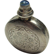 SALE Sterling Mexican Perfume Bottle with Opal Top