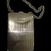 Art Deco Sterling Compact Change/Bill Holder Wristlet