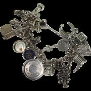 LOADED Sterling Double Link Charm Bracelet