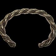 Sterling Rope Twist Native American Bracelet