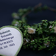 SOLD 1923 Vintage Bridal Tiara and Corsage / Myrtle Leaves and Flowers European / Free Shippin