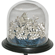 SOLD Reserved for Alex / Antique German Silver Bridal Crown and Corsage
