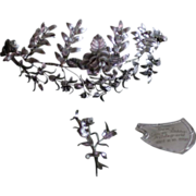 SOLD Reserved for A / 1926 Vintage Silver German Bridal Tiara and Corsage / Free Shipping Worl