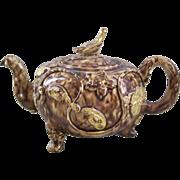 18th Century Whieldon Tortoise Glaze Teapot - Amazing Survival