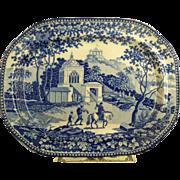 "Staffordshire Blue Platter ""Adams"""